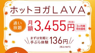 LAVA2019年11-12月キャンペーン
